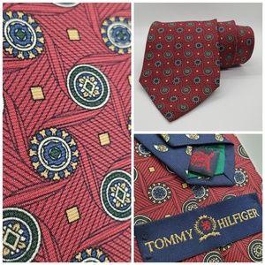 Tommy Hilfiger Men's Tie Red